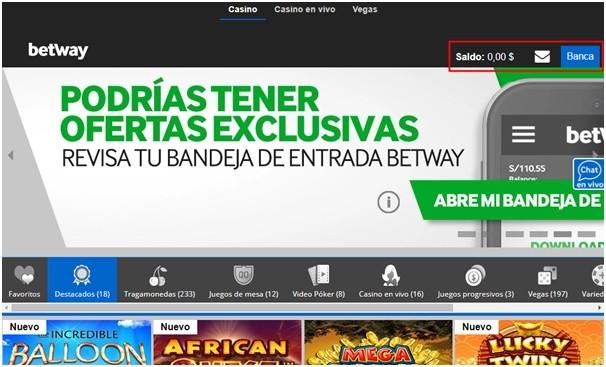 Primer pago en BetWay Chile
