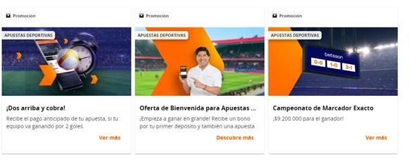 Promociones destacadas - Betsson Chile