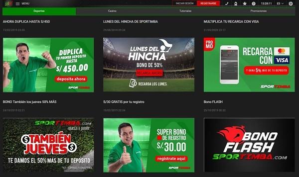 Promociones Apuestas Sportimba