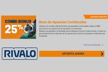 promociones de apuestas Rivalo combi bonus