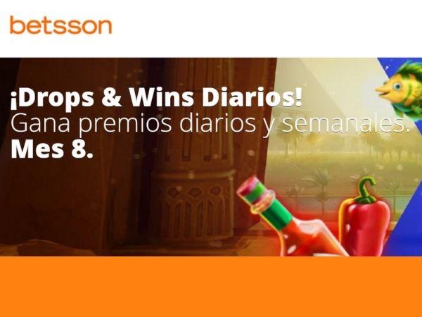 promociones de apuestas deportivas y casinos Betsson drops y wins